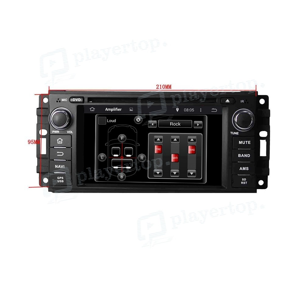 Autoradio Gps Android 4 4 4 Chrysler 300c 2005 2007