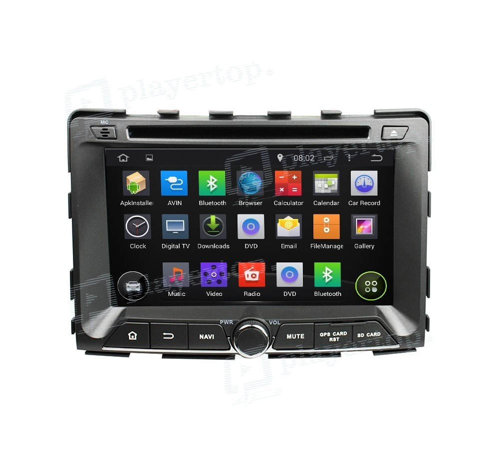 autoradio gps android 8 0 ssangyong rexton 2014. Black Bedroom Furniture Sets. Home Design Ideas