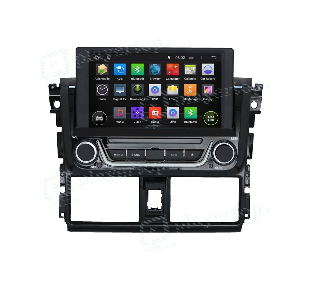 autoradio gps android 8 0 toyota yaris 2014. Black Bedroom Furniture Sets. Home Design Ideas