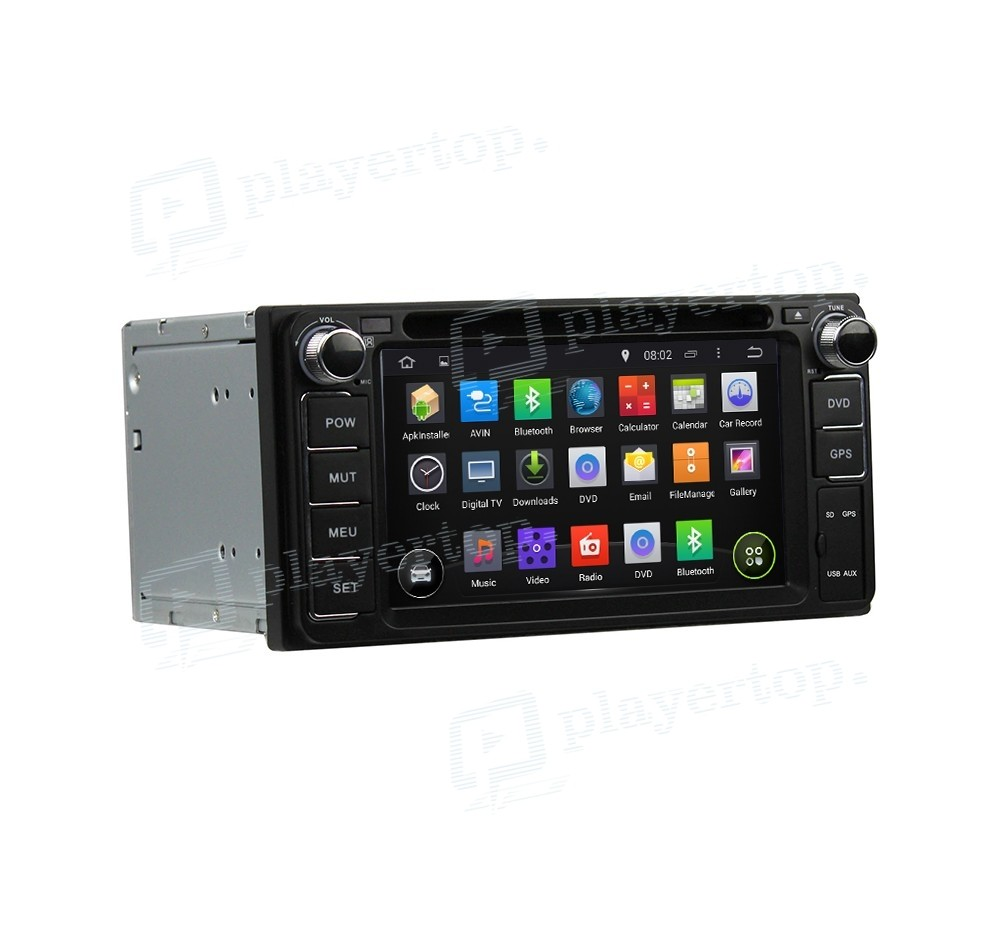 autoradio gps android 8 0 toyota vios 2003 2010 player. Black Bedroom Furniture Sets. Home Design Ideas