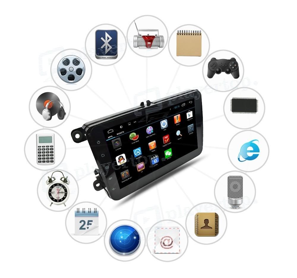 auto radio android 6 0 vw passat cc 2008 2013 player top. Black Bedroom Furniture Sets. Home Design Ideas