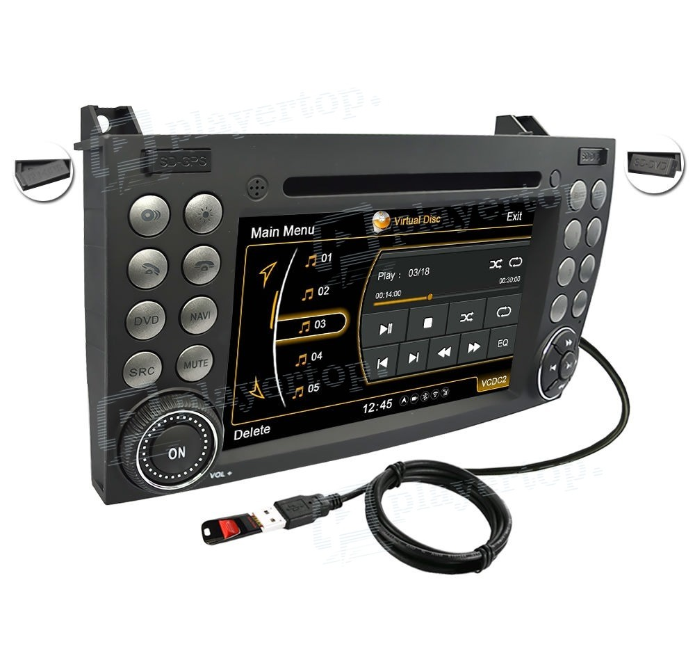 Autoradio mercedes benz slk r171 2000 2008 for Mercedes benz stereo