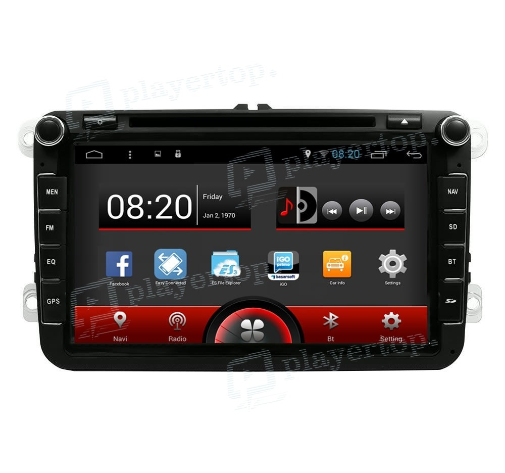 golf 6 2009 2011 auto radio android 4 4 4. Black Bedroom Furniture Sets. Home Design Ideas