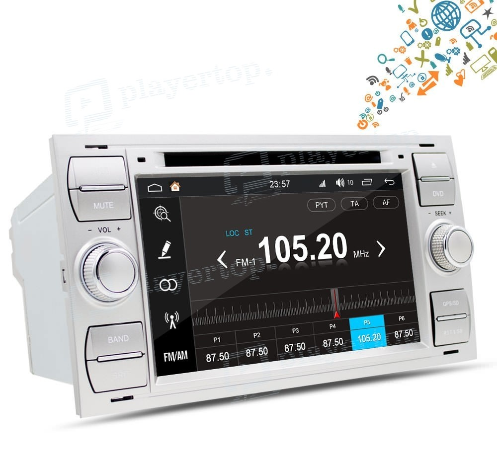 autoradio ford kuga 2008 2012 android 8 0 player top. Black Bedroom Furniture Sets. Home Design Ideas