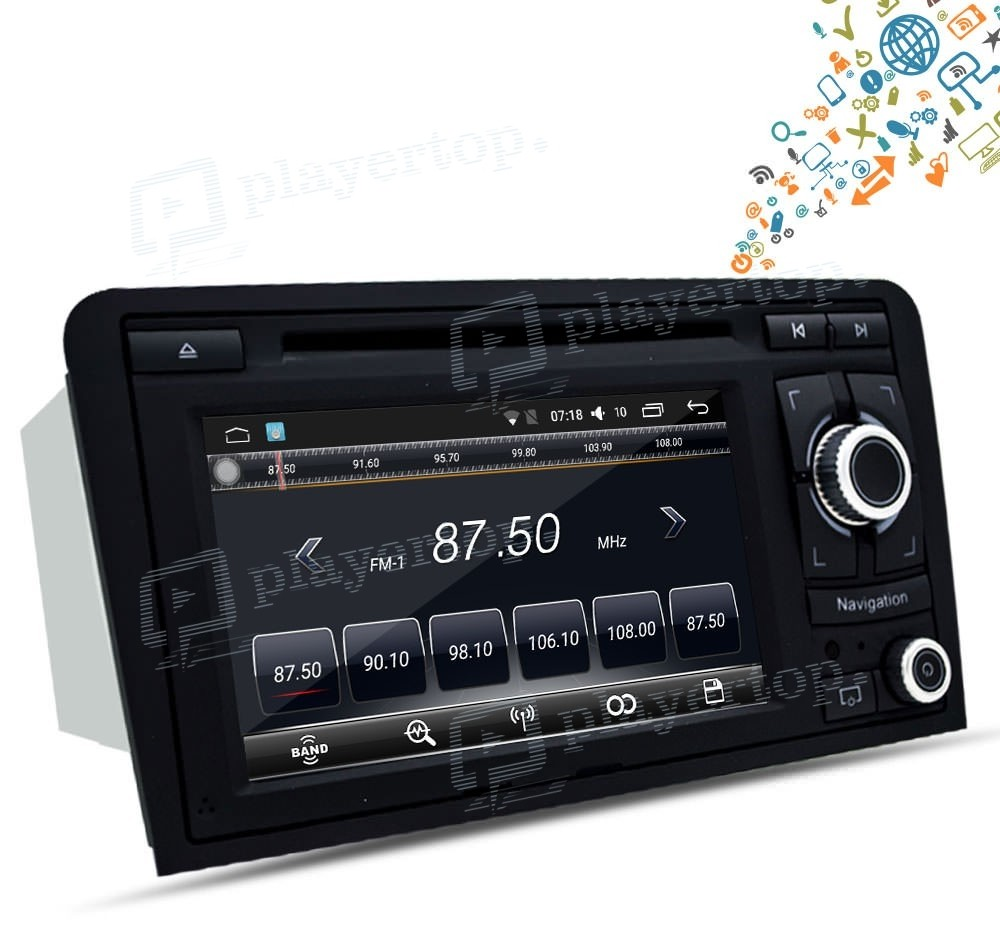 poste audi a3 gps android 8 0 2003 2013 player top. Black Bedroom Furniture Sets. Home Design Ideas