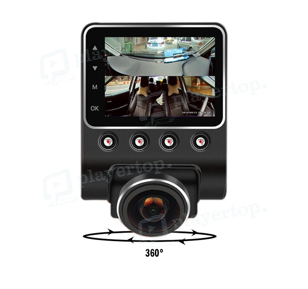 cam ra voiture 360 full hd 1080 p player top. Black Bedroom Furniture Sets. Home Design Ideas