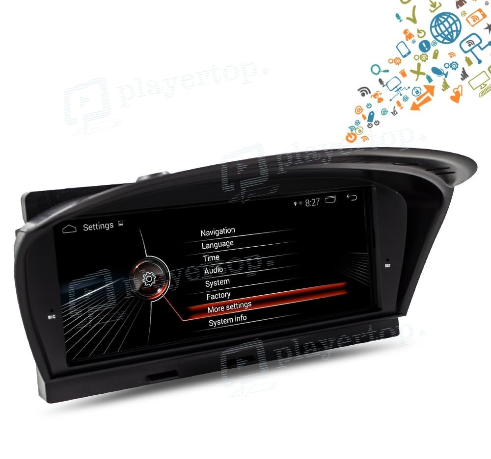 autoradio android 8 1 bmw s rie 5 e60 2005 2010. Black Bedroom Furniture Sets. Home Design Ideas