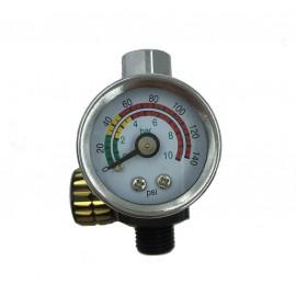 Manomètre compresseur avec régulateur de pression