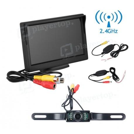 Caméra de recul sans fil avec moniteur 5 pouces et vision nocturne