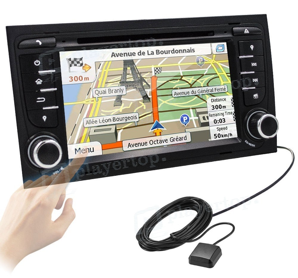 autoradio dvd gps android 4 4 4 audi a4 2002 2008. Black Bedroom Furniture Sets. Home Design Ideas