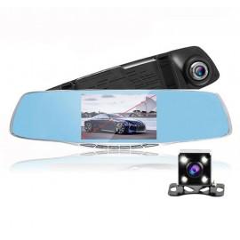 Rétroviseur dashcam avec caméra de recul et écran 5 pouces
