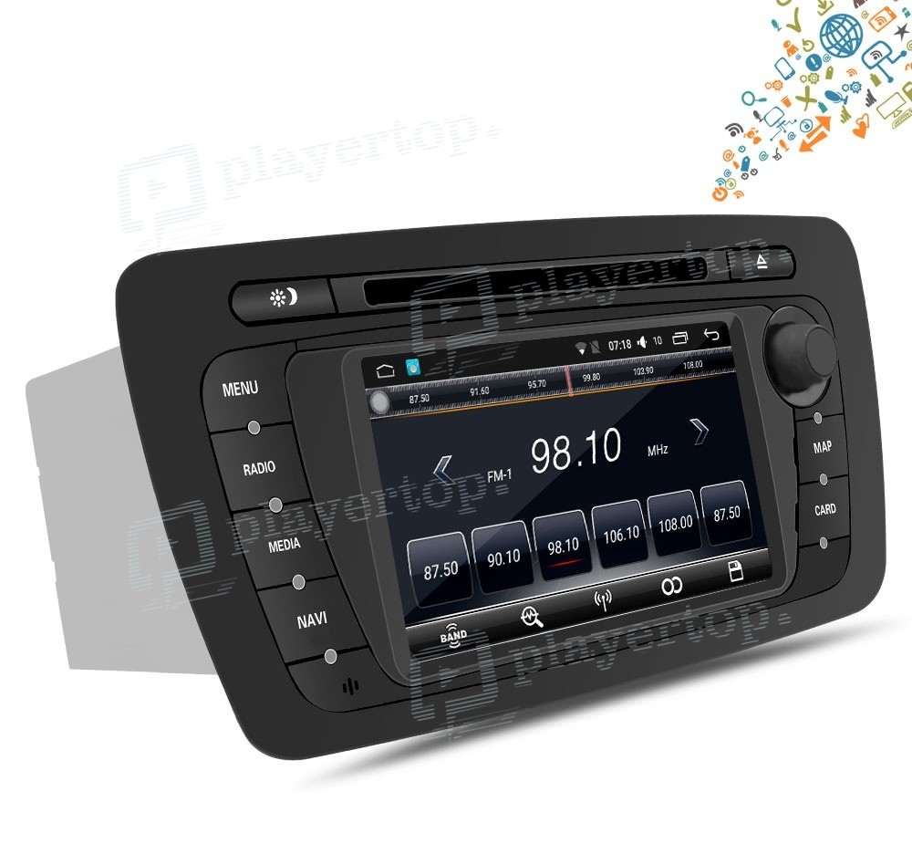 autoradio gps android 5 1 seat ibiza 2010 2013. Black Bedroom Furniture Sets. Home Design Ideas