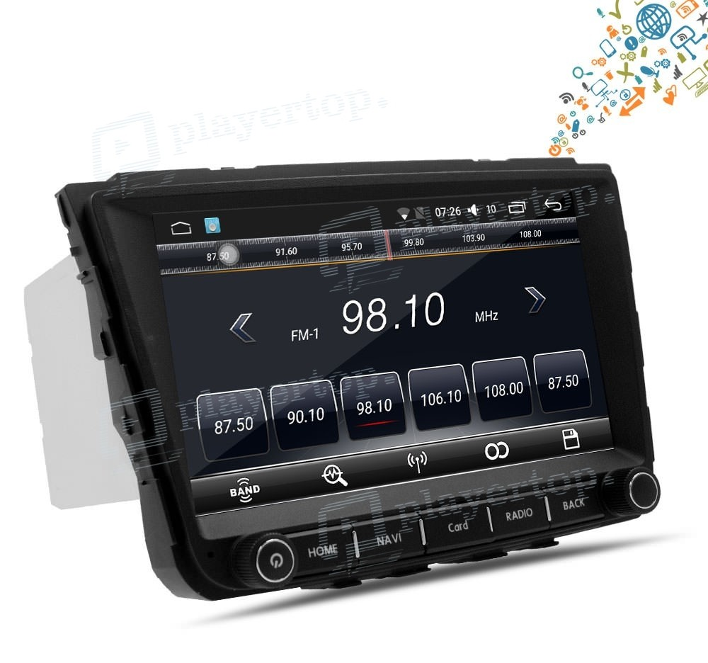 auto radio android 6 0 hyundai ix25 2014 2015 player top. Black Bedroom Furniture Sets. Home Design Ideas
