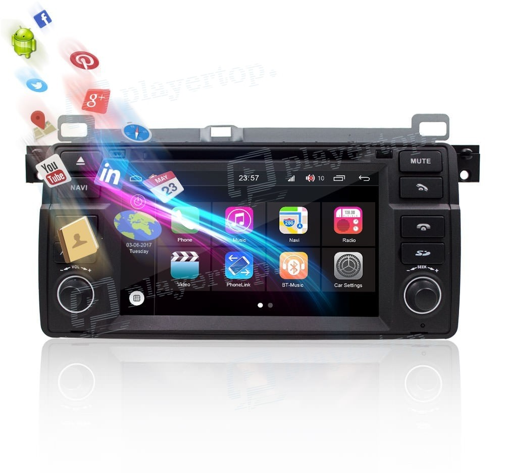 autoradio bmw e46 1998 2006 android 8 0 player top. Black Bedroom Furniture Sets. Home Design Ideas