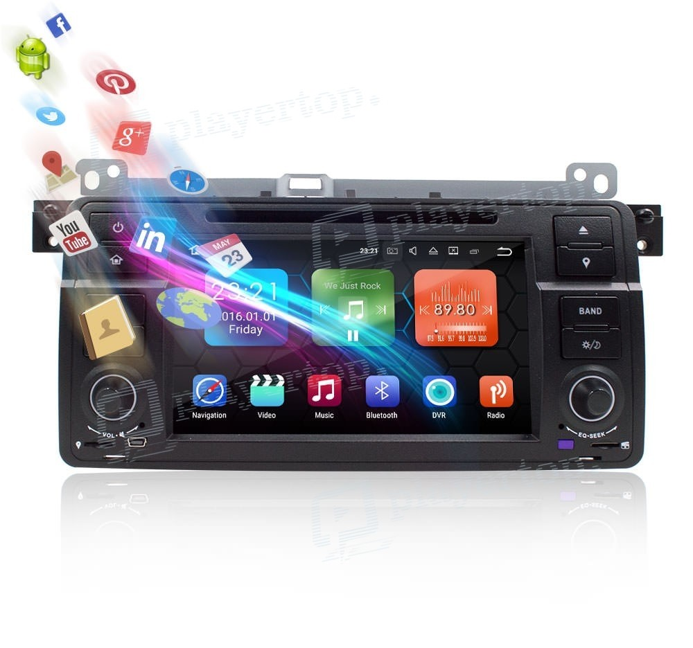 autoradio dvd gps android 8 0 bmw e46 1998 2006 player. Black Bedroom Furniture Sets. Home Design Ideas