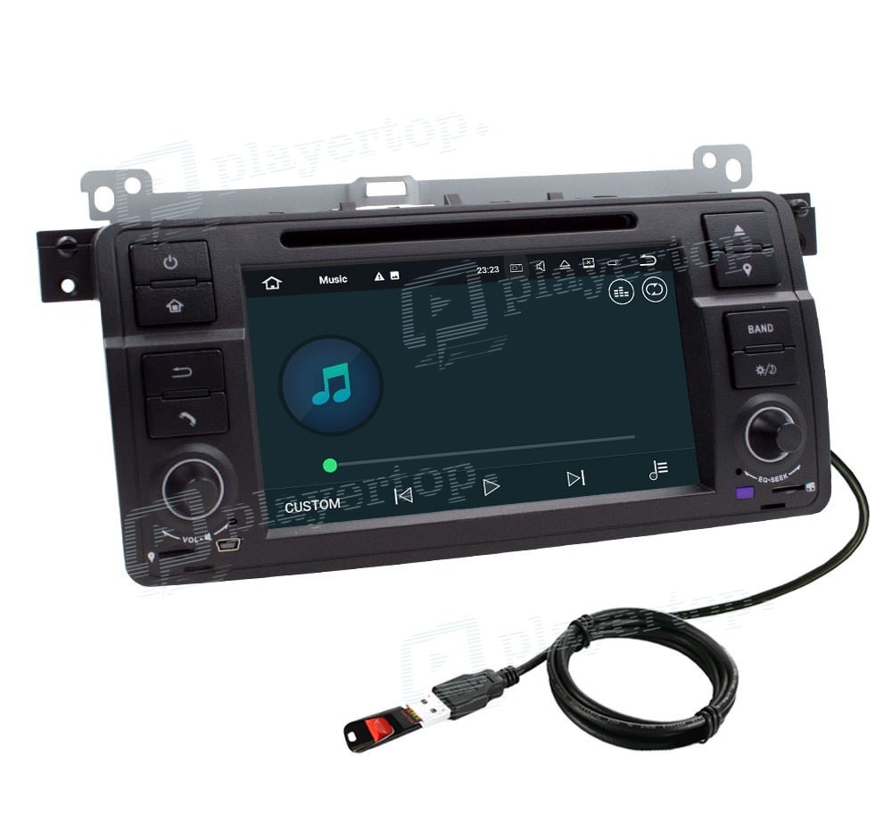 autoradio dvd gps android 9 0 bmw e46 1998 2006 player. Black Bedroom Furniture Sets. Home Design Ideas