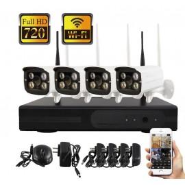 Kit de vidéosurveillance 4 caméras WiFi