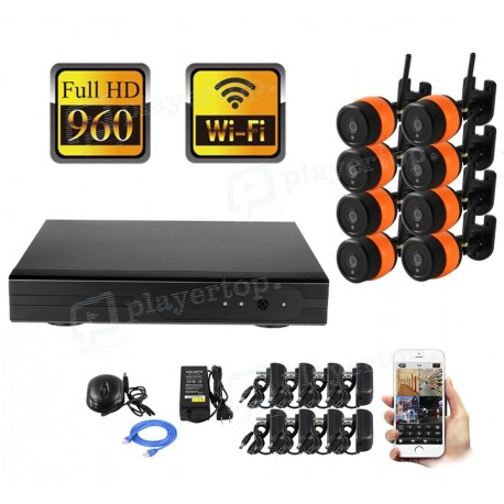 Kit de vidéosurveillance 8 caméras WiFi