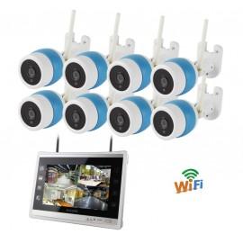 Kit de vidéosurveillance 8 caméras avec moniteur de visualisation WiFi