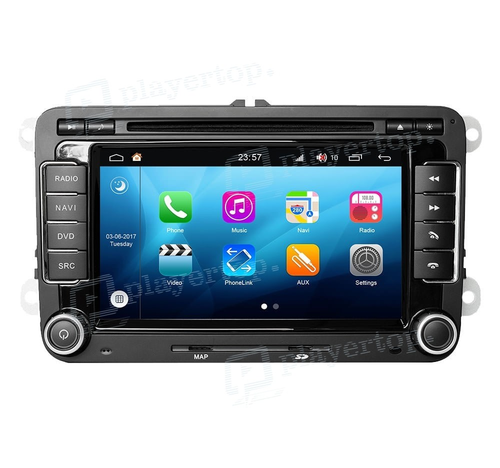 autoradio seat leon cupra 2005 2010 android 8 0 player. Black Bedroom Furniture Sets. Home Design Ideas