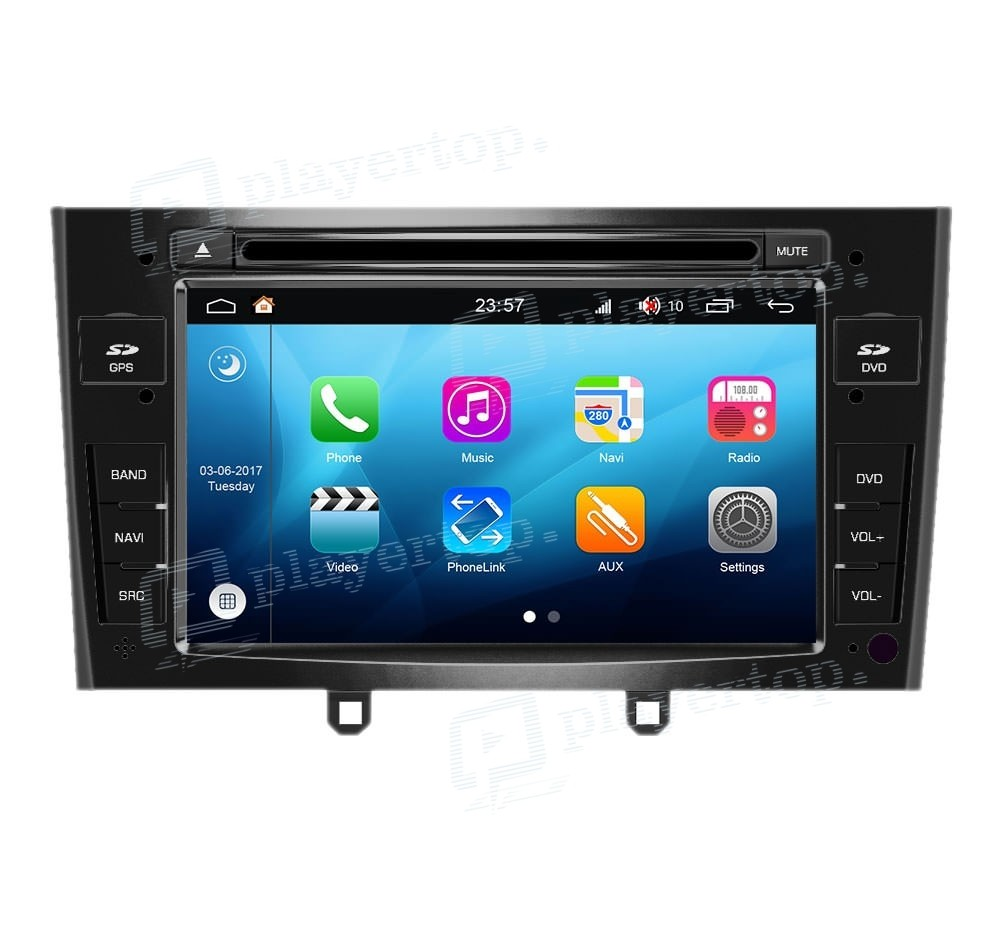 autoradio android 7 1 peugeot 308 2010 2011 pas cher. Black Bedroom Furniture Sets. Home Design Ideas