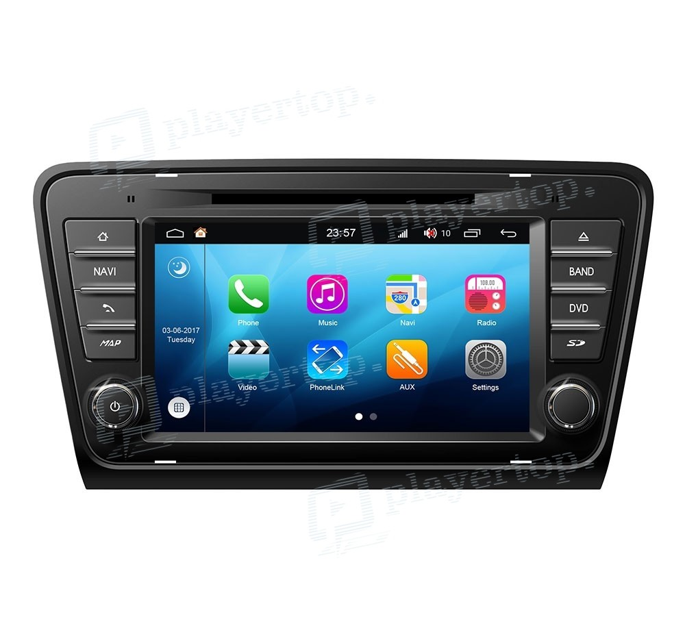 autoradio skoda octavia 2013 android 8 0 player top. Black Bedroom Furniture Sets. Home Design Ideas