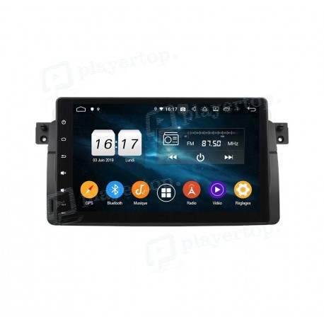 Autoradio DVD GPS Android 9.0 BMW E46 (1998-2001)