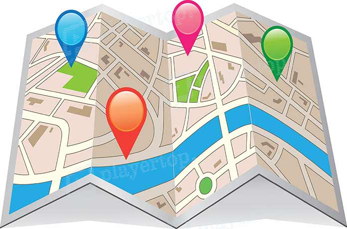 gps voiture map
