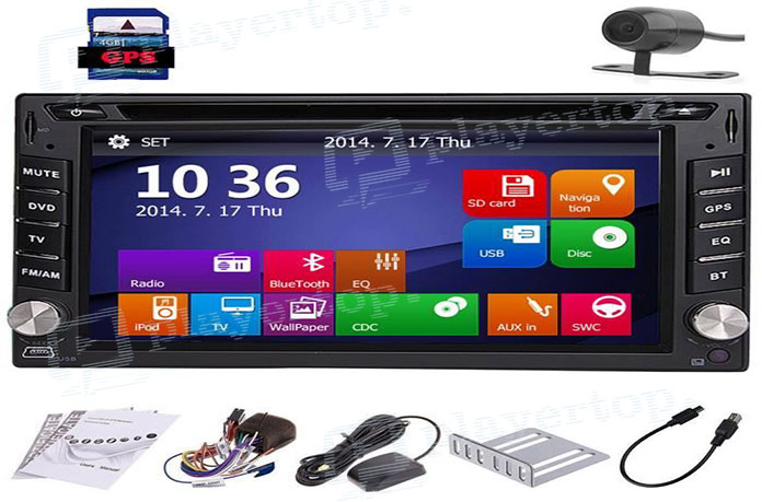 autoradio double din gps camera de recul