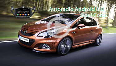 Utilisation: Autoradio Android 8.0 Opel Corsa avec GPS Player-top.fr