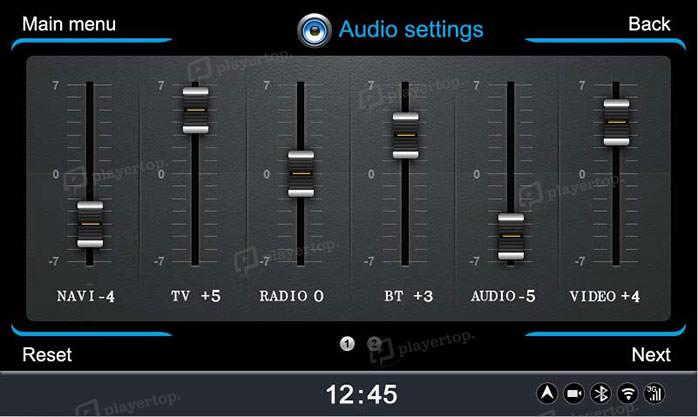 Ajustement du volume suivant les modes