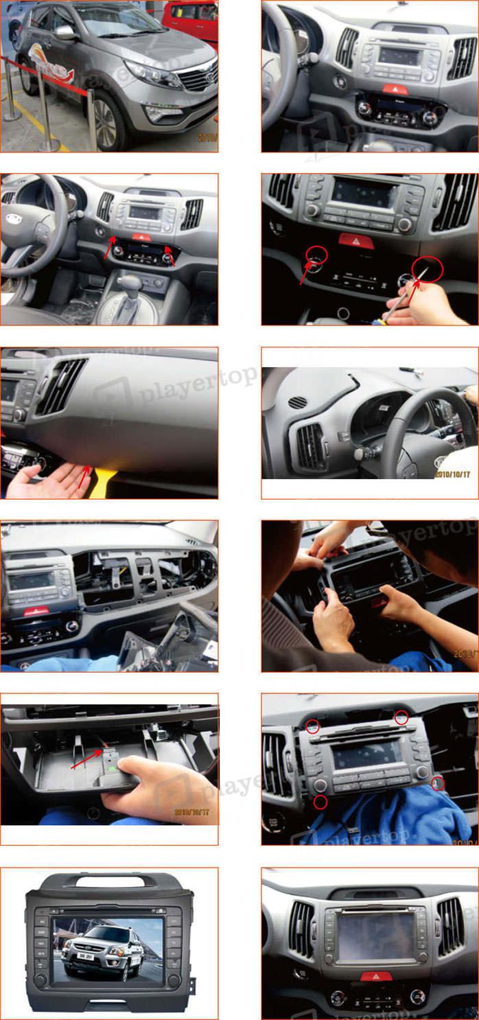 Installation et branchement autoradio SPORTAGE 2010-2013