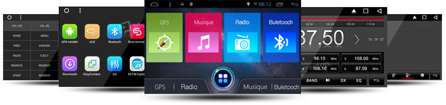 autoradio dvd gps kia sportage 2010 2012 android 7 1. Black Bedroom Furniture Sets. Home Design Ideas