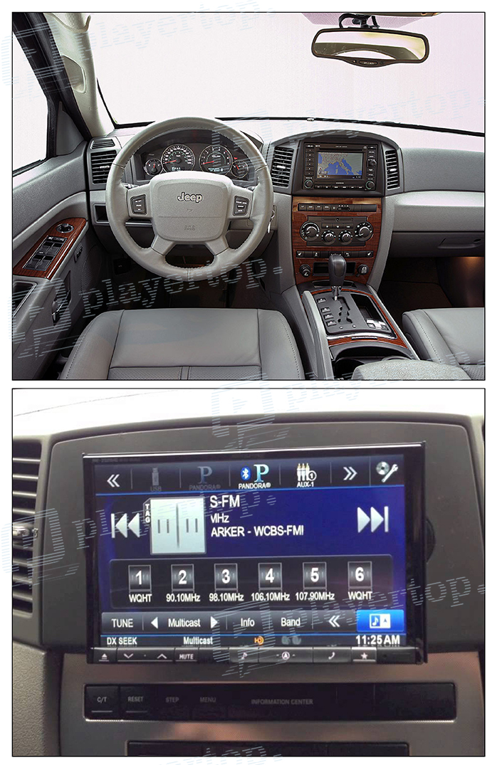 Installation Autoradio jeep grand cherookee
