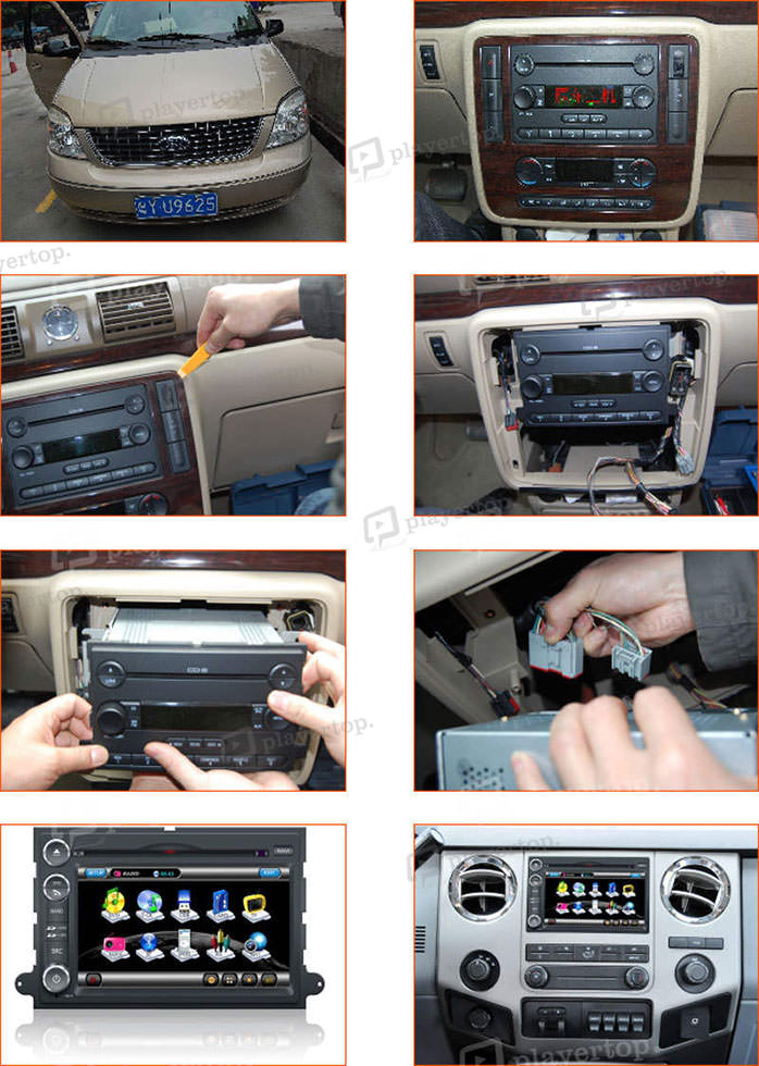 installation autoradio ford explorer 2006 2009