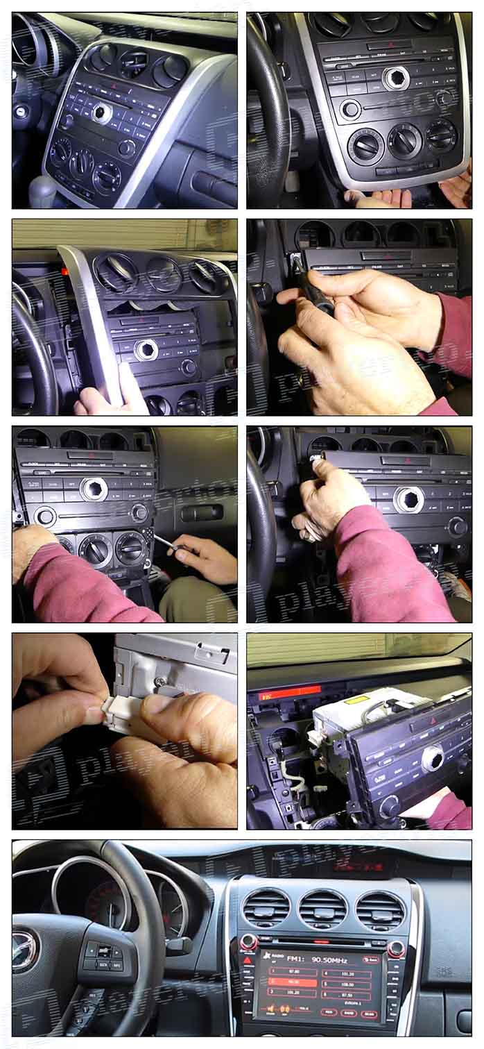 installation autoradio mazda cx7