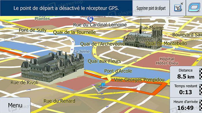 Photo cartographie GPS 3D autoradio